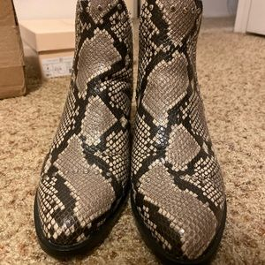 Steve Madden snake booties